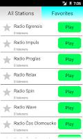 Screenshot of Czech Radio Online