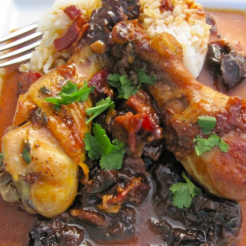 Chicken with Prunes and Bacon