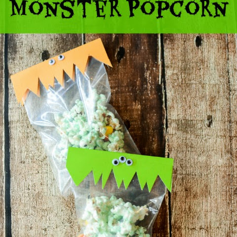 Monster Popcorn Mix Halloween