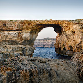 Azure Window by Damian Allison - Landscapes Caves & Formations ( water, dwejra, gozo, wonder, sea, azure window, formation )