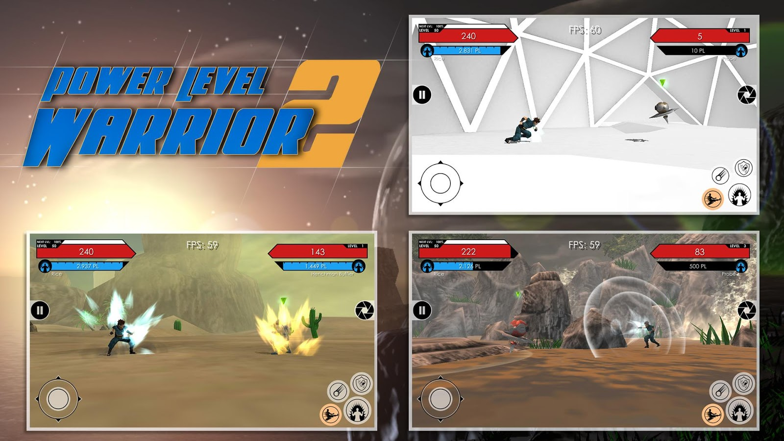 Power Level Warrior 2 Screenshot 1