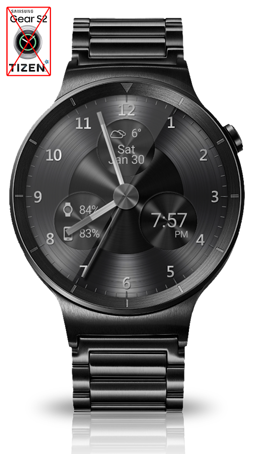 Black Metal HD Watch Face Screenshot 4