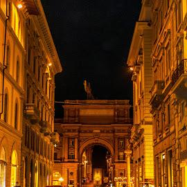 Florentine glow by Hariharan Venkatakrishnan - City,  Street & Park  Night