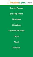 Screenshot of Traveline Cymru