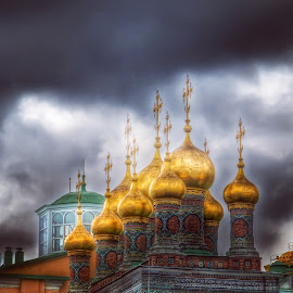Moscú, cúpulas, nubes, Kremlin by Jesús Municio - Instagram & Mobile Other ( nubes, moscú, kremlin, cúpulas )