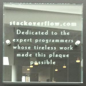 Stack Overflow Plaque