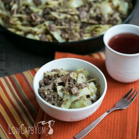 Bacon Burger Cabbage Stir Fry