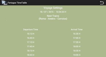 Screenshot of Fertagus Trains TimeTable