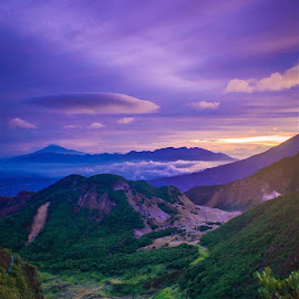 Blue Sunrise by Haekal Siregar - Landscapes Mountains & Hills ( garut, hill, mountain, blue, indonesia, sunrise )