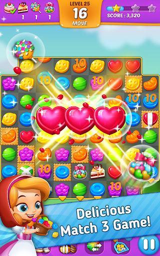 Lollipop: Sweet Taste Match3 - screenshot