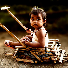 Stroller on rough road by Jun Santos - Babies & Children Children Candids