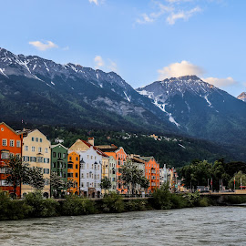 Innsbruck by Aamir DreamPix - City,  Street & Park  Vistas ( mountains, houses, austria, lakes, innsbruck )