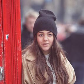 Street Portrait  by Balazs Romsics - Uncategorized All Uncategorized ( london, street, girt, travel )