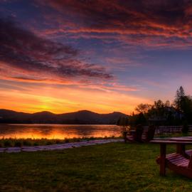 Levé de soleil à St-Adolphe by Luc Bussieres - Landscapes Sunsets & Sunrises ( relax, tranquil, relaxing, tranquility,  )