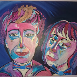 Me And My Muse by Zippora Meijer - Painting All Painting ( modern, zippora, muse, art, artistic, colorfull, human )