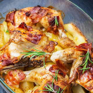 Bacon Baked Chicken And Potatoes
