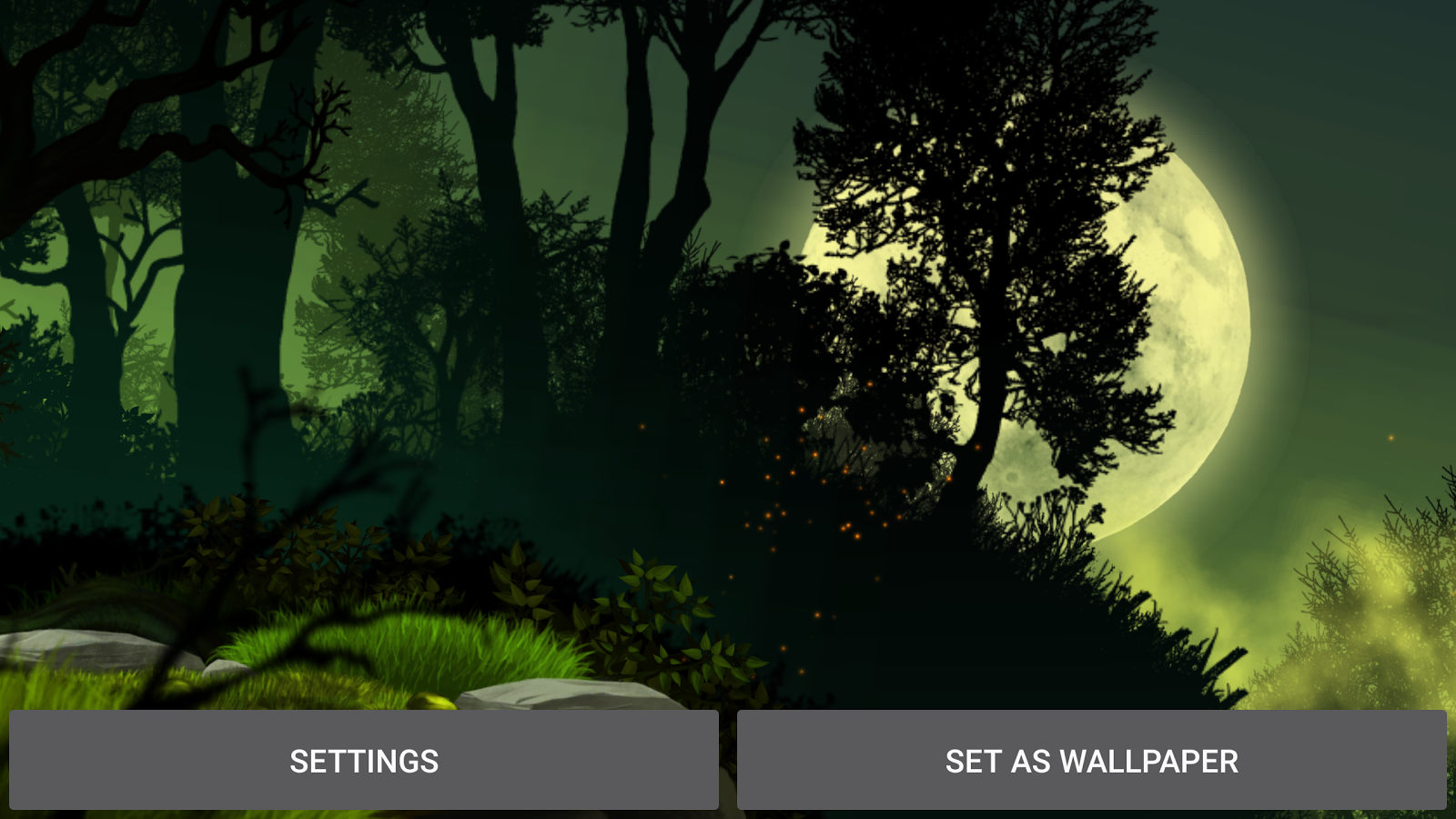 Firefly Forest Live Wallpaper Screenshot 15