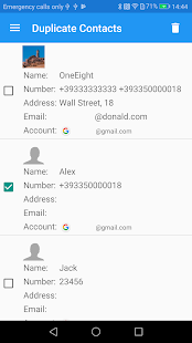 Duplicate Contacts Screenshot