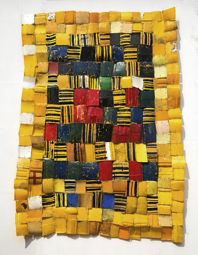 Reconstruction:  Serge Attukwei Clottey will show his art at the Today's Tomorrow platform, which is a portal for African art.  Picture: SUPPLIED