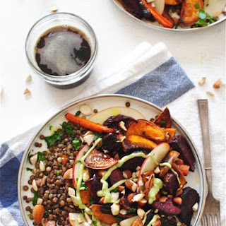 French Lentils with Roasted Root Vegetables