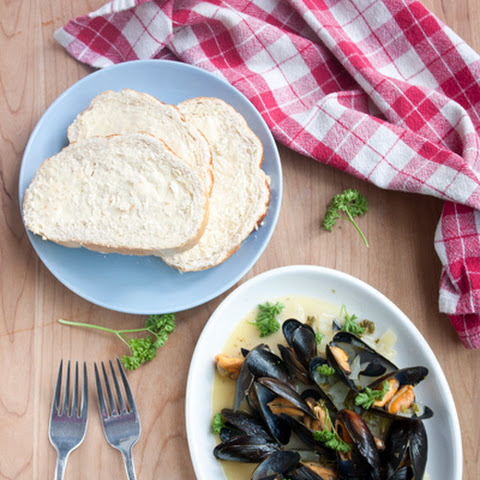(fresh Mussels Steamed Open In Wine And Flavourings)
