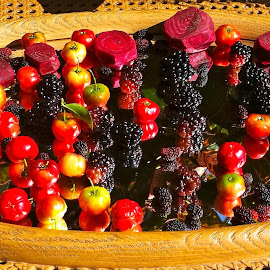 { Todays Crops }  by Jeffrey Lee - Food & Drink Fruits & Vegetables ( cherrys dew berrys black berrys, mull berrys, cherrrys,  )