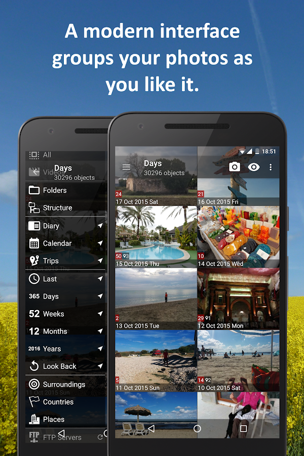 PhotoMap Gallery - Photos, Videos and Trips Screenshot 0