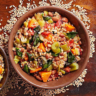 Farro Bean and Sweet Potato Braise