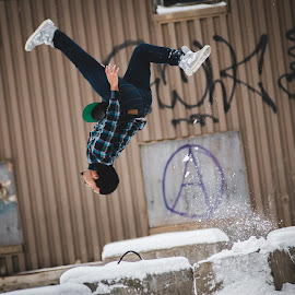 by Norbi Whitney - Sports & Fitness Other Sports ( cool, backflip, style, snow, acrobat )