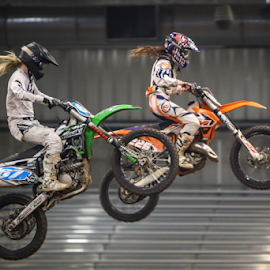 Good Hair Day by Kenton Knutson - Sports & Fitness Motorsports ( indoor, motocross, racing, moto, arena cross )