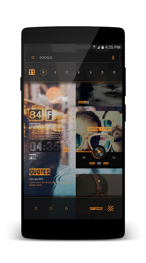 Kards CiTyyy for KLWP Screenshot 5