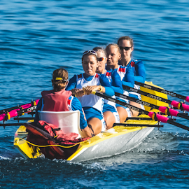 Russian Women Rowers by Keith Sutherland - Sports & Fitness Watersports ( sidney, bc, rowing, race, international, world rowing event )