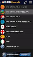 Screenshot of NBC Deportes