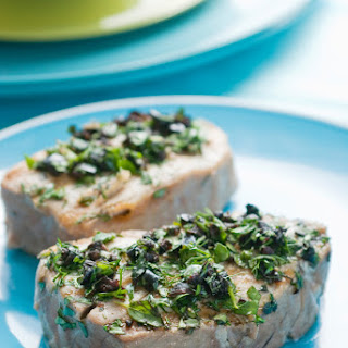 Grilled Tuna With Herbs and Olives