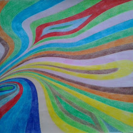 Abstract art #colouredpencilart by Reagan Muriuki - Drawing All Drawing