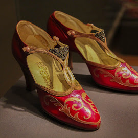 Red Designer Shoes by Janet Marsh - Artistic Objects Clothing & Accessories ( shoes, red,  )