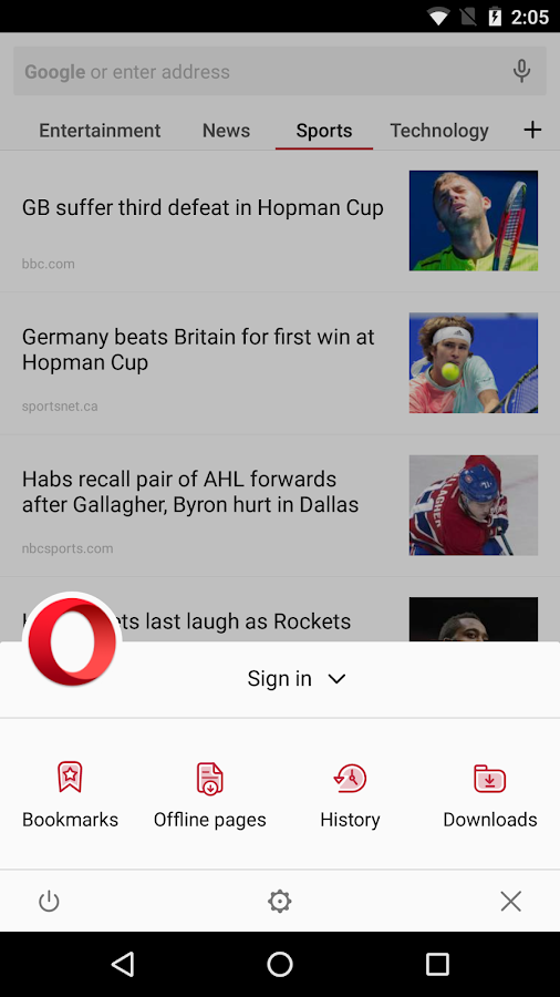 Opera browser - latest news Screenshot 1