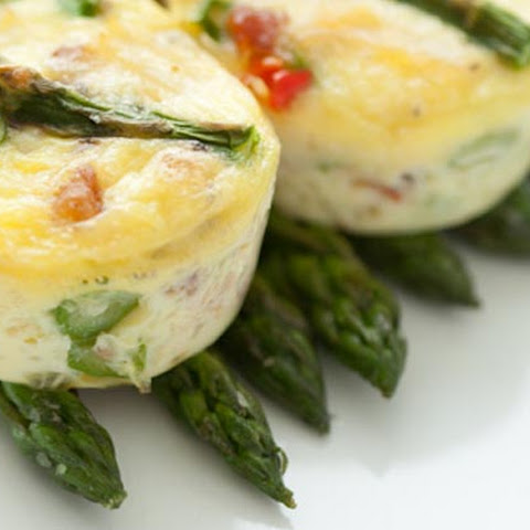 "Crab, Asparagus and Pepper Mini ""Un"" Frittatas"