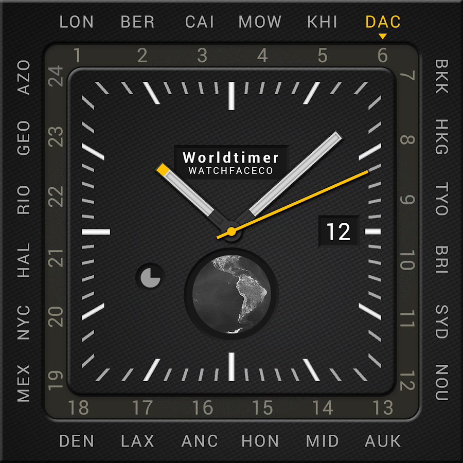 World Timer Watch Face Screenshot 4