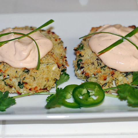 Santa Barbara Rock Crab Cakes with Lime Chipotle Cream