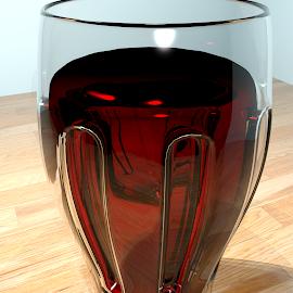 Wine glass. by Siniša Dalenjak - Illustration Food & Drink