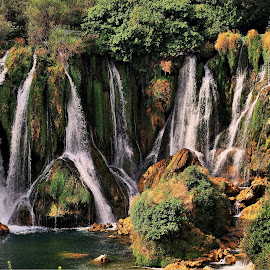 Kravica waterfall by Francis Xavier Camilleri - Landscapes Waterscapes