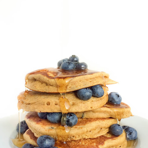 Blueberry Almond Butter Pancakes