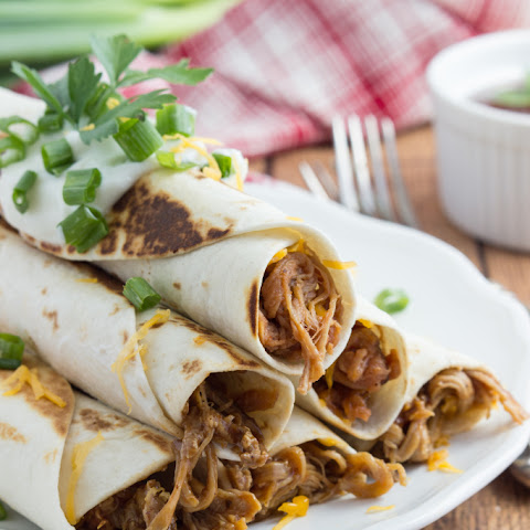 {Slow Cooker} Honey-Chipotle BBQ Pulled Pork Taquitos + $300 Giveaway