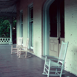The Front Porch by Scott Block - Buildings & Architecture Homes ( home, old, rocking chairs, jim thorpe pa, house, furniture, porch,  )