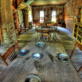 Dinner Time  by Eric Demattos - Buildings & Architecture Decaying & Abandoned ( garnet, ghost town, table, kitchen, abandoned )
