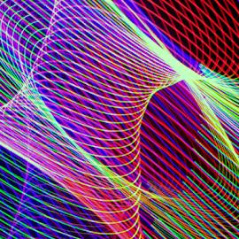 Light column by Jim Barton - Abstract Patterns ( laser light, colorful, light design, column, laser design, laser, laser light show, light, light column, science )