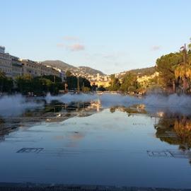Evening beckons in Nice, France by Chris Chuah - City,  Street & Park  Vistas ( #landscape, #parks, #nice, #france, #sunset )