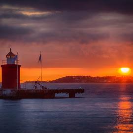 Sunset in Ålesund by John Einar Sandvand - City,  Street & Park  Night ( ålesund, norway )