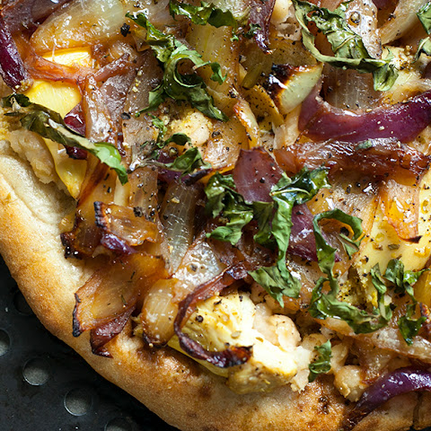 White Bean Pizza with Artichokes and Caramelized Onions